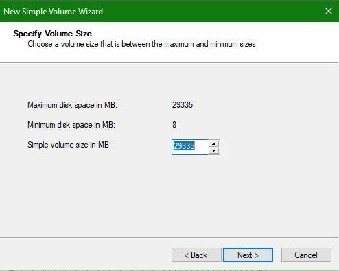 Corregir tamaño de volumen USB no formateable