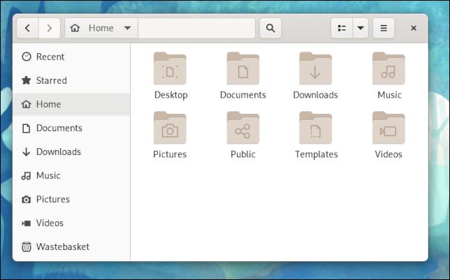 Explorador de archivos con esquinas redondeadas