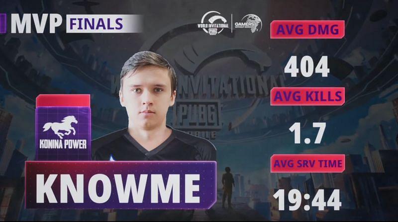 KnowMe fue el MVP de PUBG Mobile World Invitational West