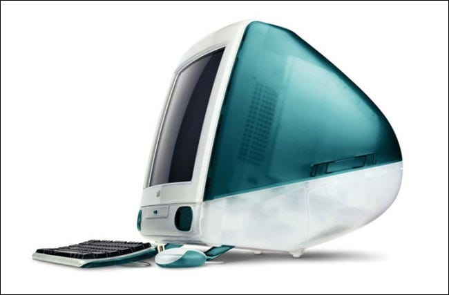 El iMac de Apple original de 1998.