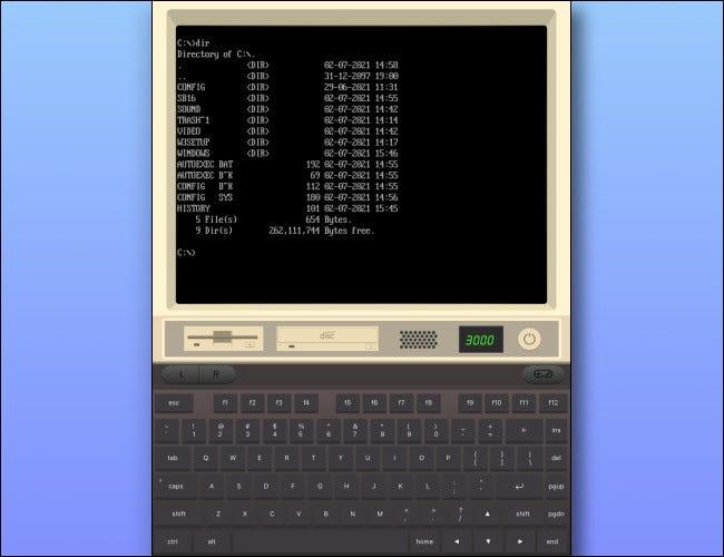 Un ejemplo de la pantalla de descripción general de iDOS 2.