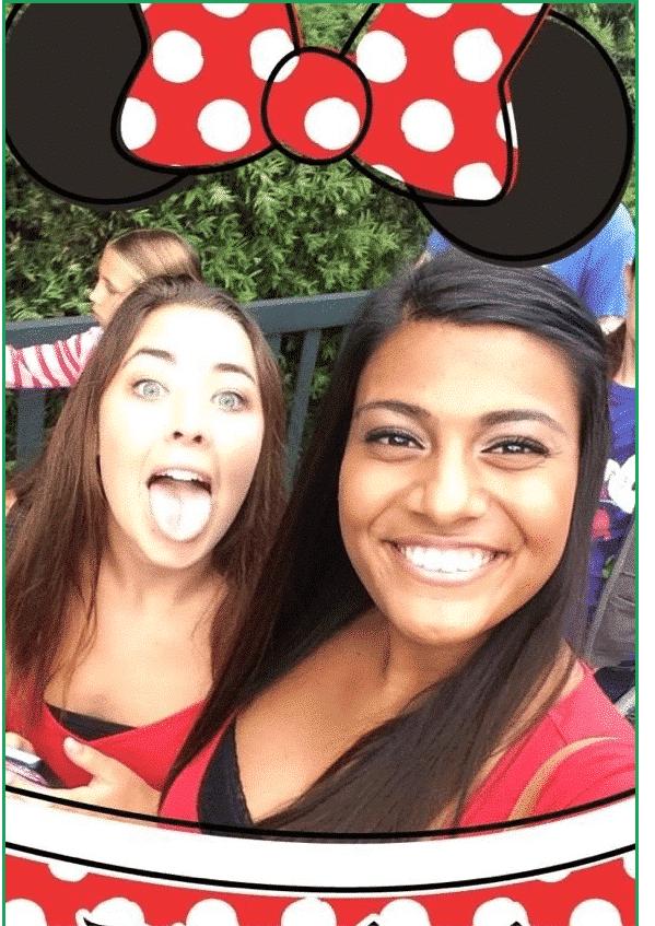 Filtro de anuncios de Snapchat de Disneyland