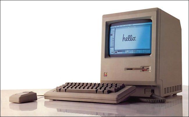 Una foto del Macintosh original de 1984.