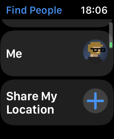 Compartir mi ubicación a través de Apple Watch