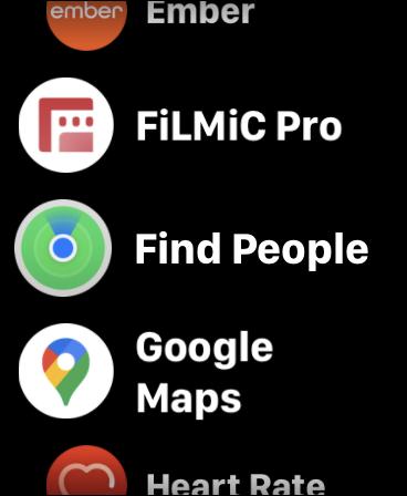 Aplicación Apple Watch Find People