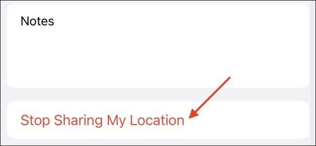 Dejar de compartir la ubicación con Apple Contact
