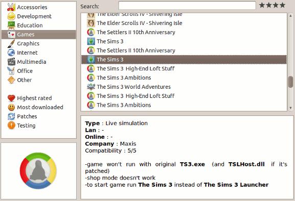 sims3-lista de juegos