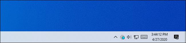 El reloj de la barra de tareas de Windows 10 muestra los segundos