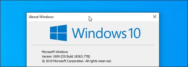 Hacer clic en la barra de título de una ventana en Windows 10.