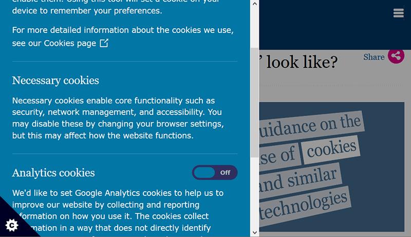 Consentimiento de cookies Formulario de consentimiento de Ico