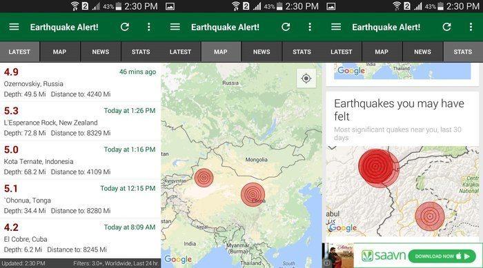 ¡Alerta de terremoto, alerta de terremoto!