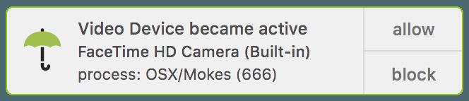 alerta de cámara de vigilancia