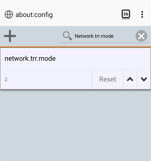 Dns sobre Https Android Firefox