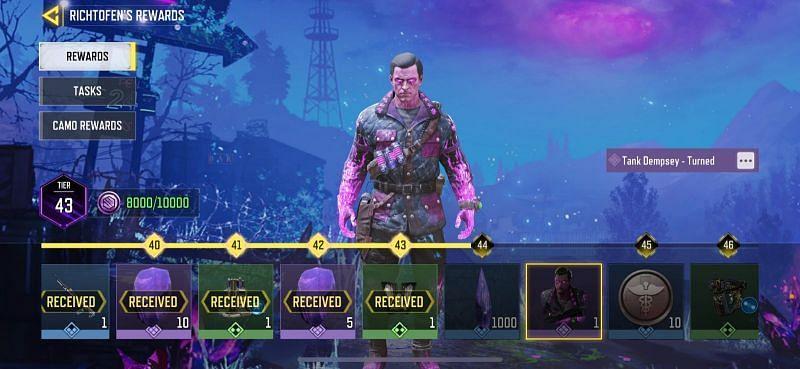 Gana el diseño Tank Dempsey y el camuflaje épico Shorty al final del Pase de batalla (Imagen a través de Call of Duty Mobile)
