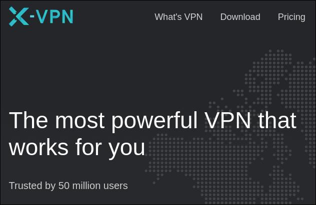 Reclamación del sitio de X-VPN