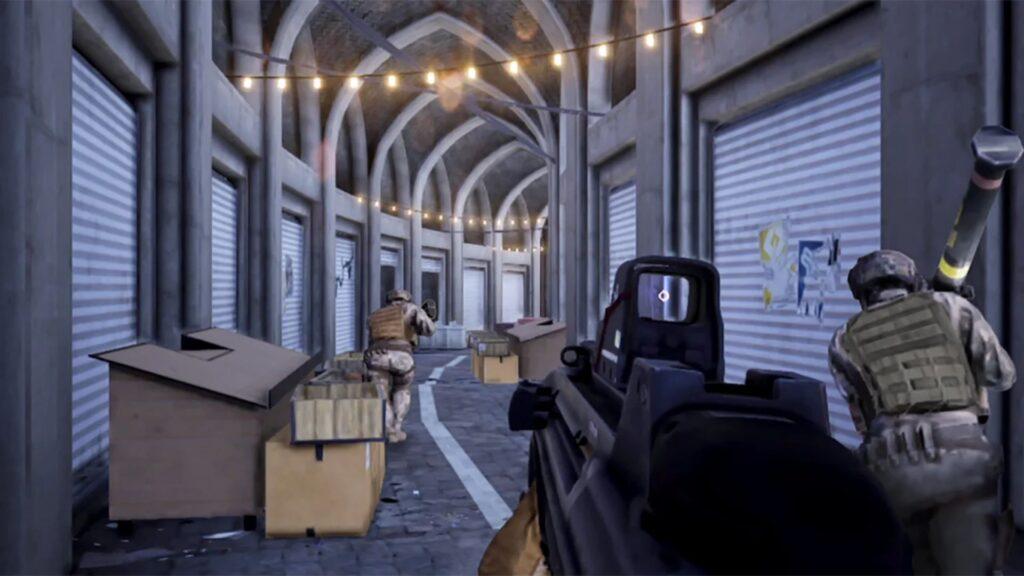 Battlefield Mobile Play cargando por un callejón