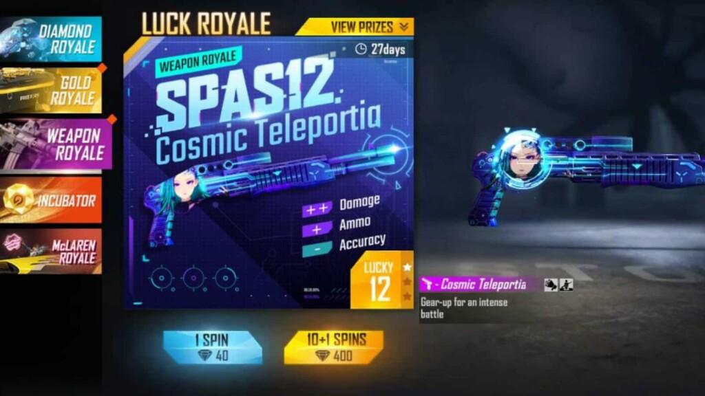 SPAS12 Cosmic Teleportia en Free Fire