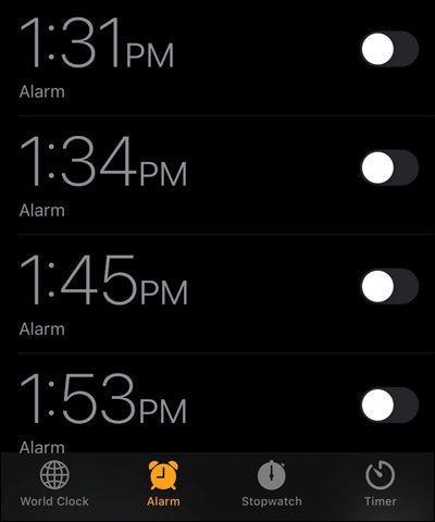 Alarmas de iPhone