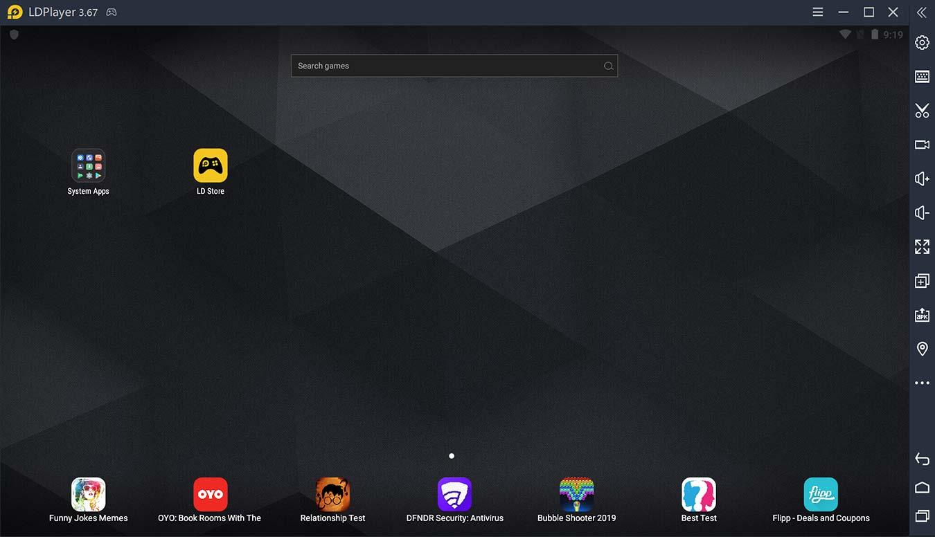 Ldplayer Review Nueva pantalla de inicio