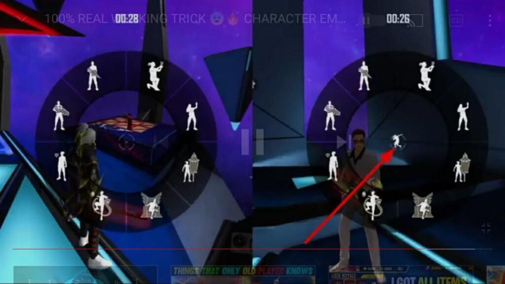 Usa el gesto de personaje en Free Fire Lobby