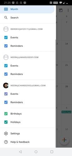 Aplicación Google Calendar