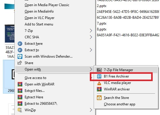 Abrir archivos Rar B1
