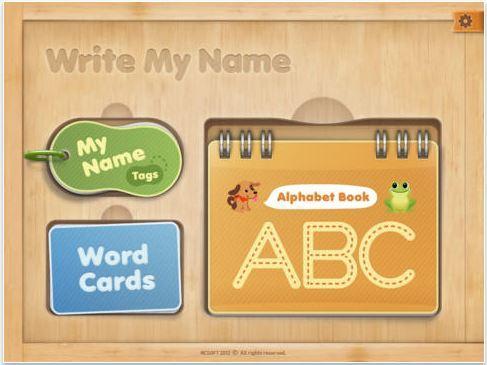 Aplicación para iOS Write My Name.