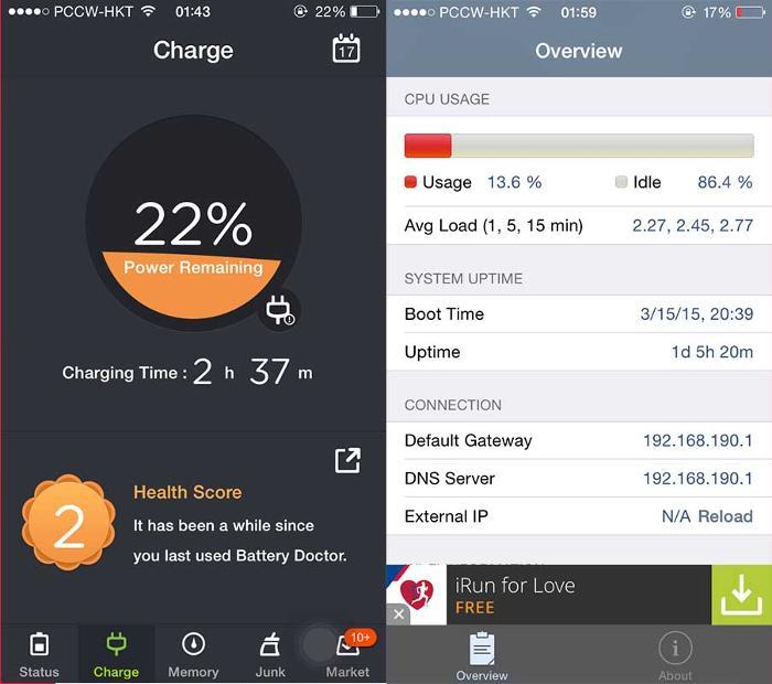 Utilice aplicaciones de diagnóstico y administración de la batería