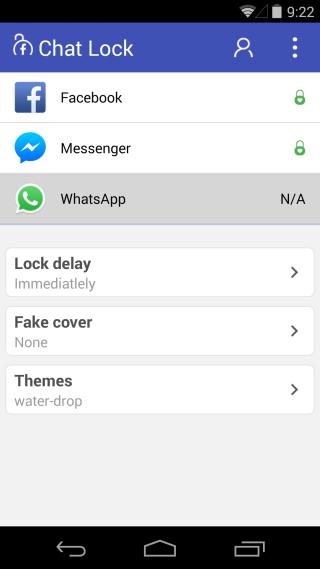 Aplicaciones de chat bloqueadas