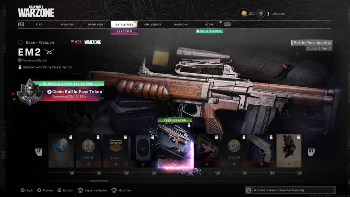 El mejor equipamiento de EM2 Warzone en la temporada 5