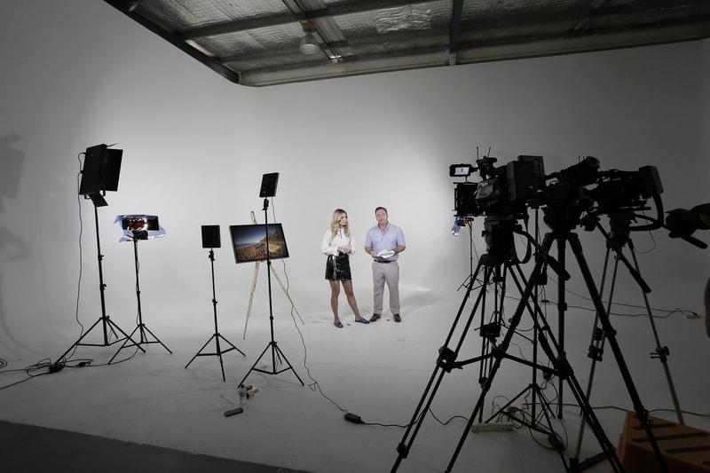 Equipo de filmación profesional