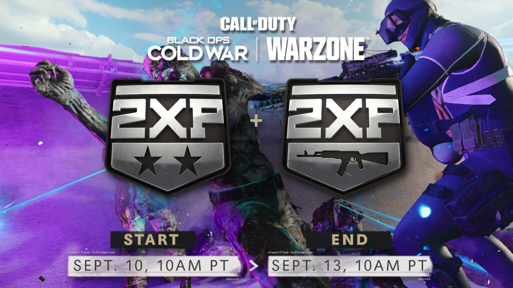 Black Ops Cold War y Warzone Double XP