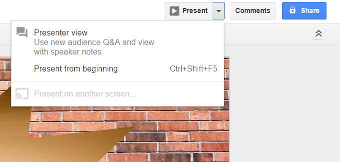 google-slides - conectarse a Chromecast