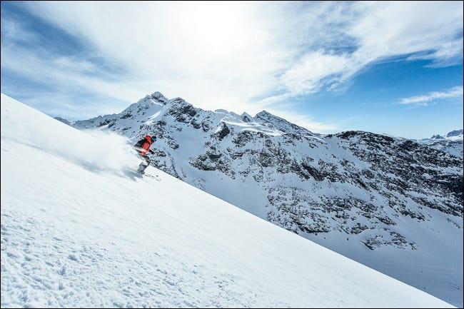 foto de un esquiador