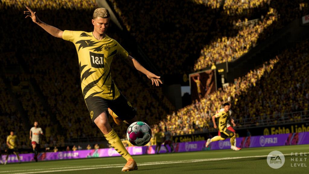 Captura de pantalla del tráiler del juego FIFA 22