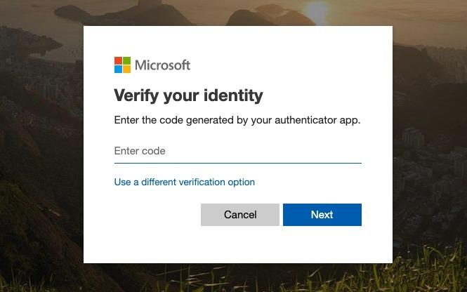 Microsoft Outlook verificar identidad