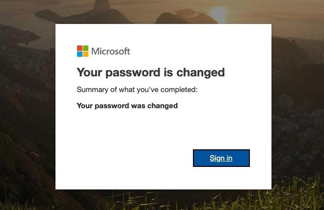 Cambio de contraseña de Microsoft Outlook