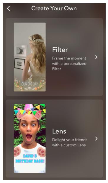 filtro de snapchat personalizado