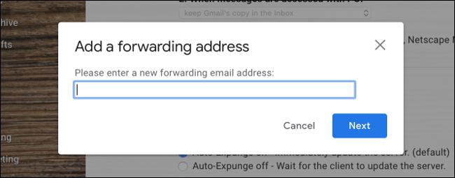 Agregar dirección de reenvío a Gmail