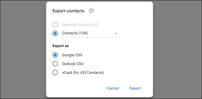 Exportar contactos de Gmail como CSV
