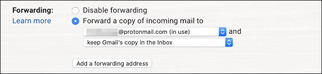 Configurar el reenvío en Gmail