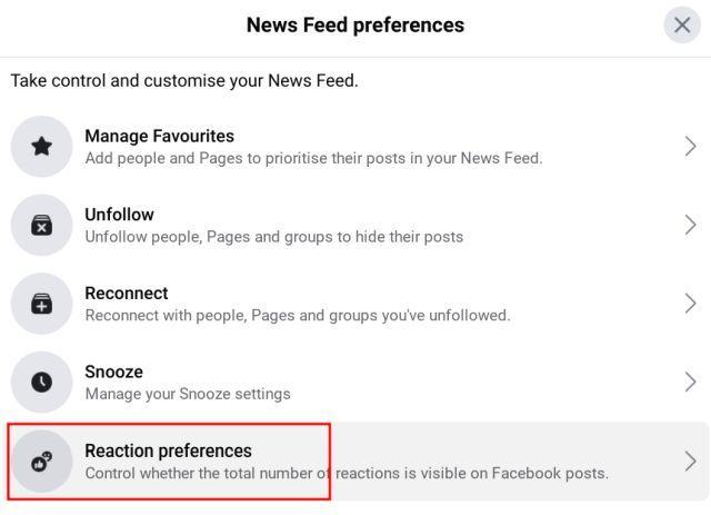 preferencias de suministro de noticias