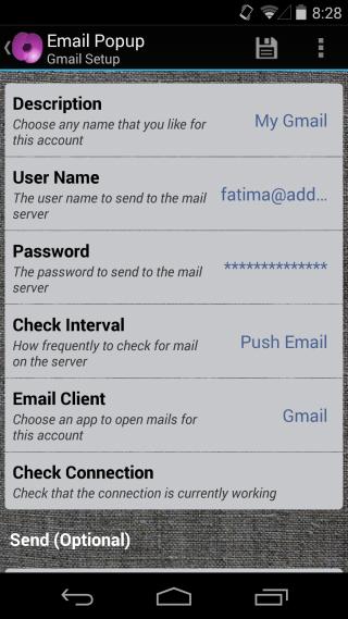 Poppy añadir correo electrónico
