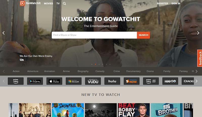 Herramientas de servicios de transmisión Gowatchit