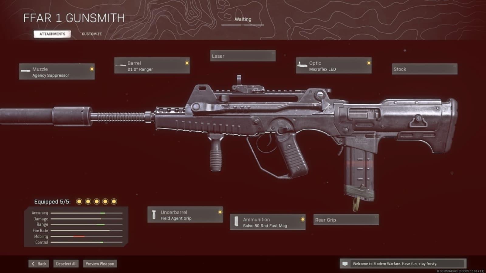 El mejor equipamiento de Warzone de FFAR 1 con detalles