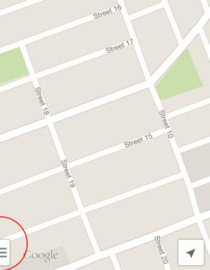 Pestaña de configuración de mapas de ubicación de Google