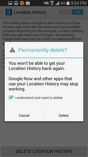 Google-Ubicación-Eliminar-Android