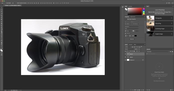Experiencia de usuario de Adobe Photoshop CC 2018