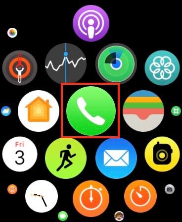 inicie la aplicación Teléfono en su Apple Watch