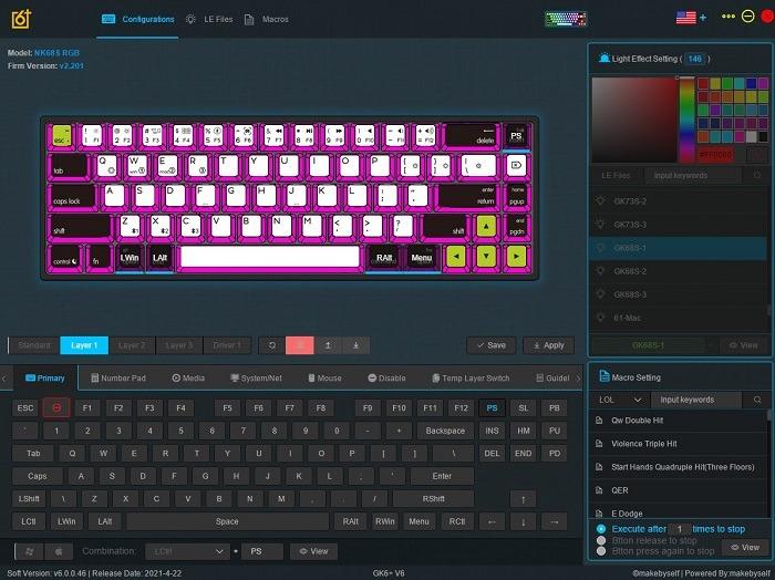 Personalización de teclas de revisión del teclado Epomaker Nt68